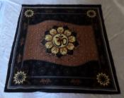 OM in Lotus Cotton Altar Cloth